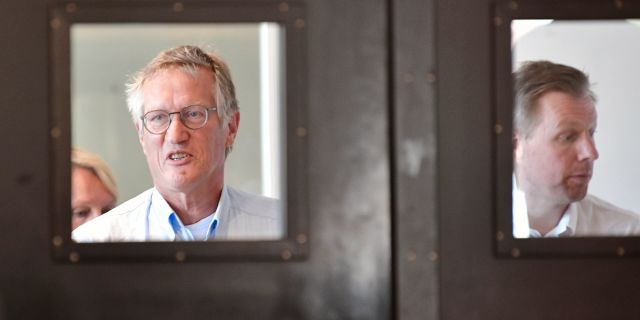 Anders Tegnell inför tisdagens pressträff. Jonas Ekströmer/TT / TT NYHETSBYRÅN