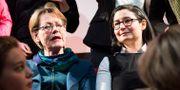 Feministiskt Initiativs valkonferens och extra kongress på Moriskan i Malmö. Partiets två partiledare Gudrun Schyman och Gita Nabavi. Emil Langvad/TT / TT NYHETSBYRÅN