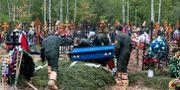Begravning i Moskva, Ryssland. Pavel Golovkin / TT NYHETSBYRÅN