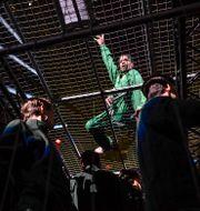 Asap Rocky på Globens scen. Jessica Gow/TT / TT NYHETSBYRÅN