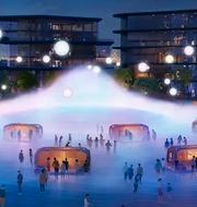 """I Toyotas """"smarta stad"""" är alla fordon uppkopplade mot allt möjligt.  Toyota (pressbild)"""