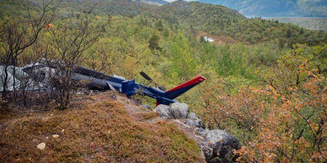 Olycksplatsen i Alta i Nordnorge. Tom Skoglund / Altaposten / TT NYHETSBYRÅN