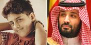 Vänster: Murtaja Qureiri som barn. Bild: Amnesty. Till höger: En av Saudiarabiens mäktigaste män, kronprinsMohammed bin Salman. TT