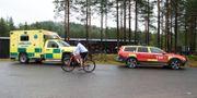 Bild från dagen som 18-åringen dog på djurparken. Ambulanser på platsen. Ulf Palm/TT / TT NYHETSBYRÅN