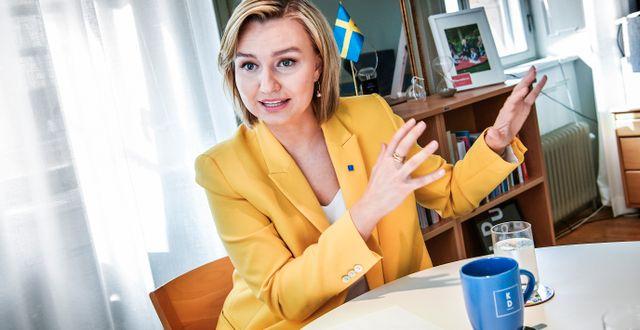 KD-ledaren Ebba Busch Thor. Tomas Oneborg/SvD/TT / TT NYHETSBYRÅN