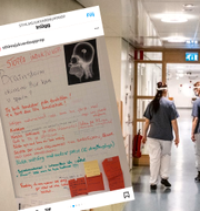 Skärmdump från Sjukvårdsupprorets inlägg/Illustrationsbild från Södersjukhuset.  Instagram/TT