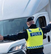 Gränspolis vid Öresundsbron. Illustrationsbild. Johan Nilsson/TT / TT NYHETSBYRÅN
