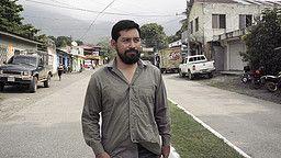 Journalisten Carlos Choc tvingades gå under jorden på grund av sin granskning av mordet på fiskaren Carlos Maaz. Forbidden Stories/TTJ