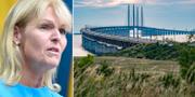 Anna Hallberg/Öresundsbron vid 20-årsfirandet. TT