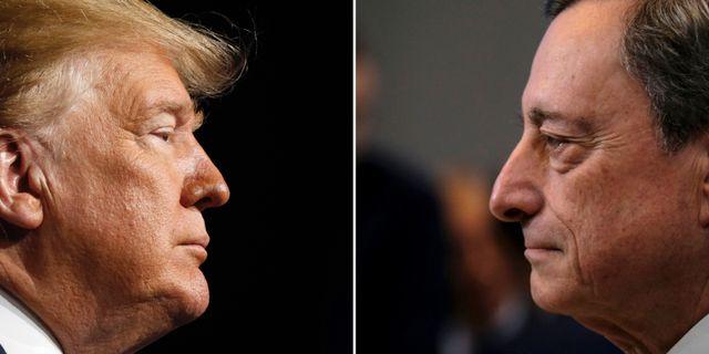 Donald Trump, Mario Draghi TT