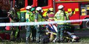 Flera personer skadades lindrigt i explosionen i Linköping. Jeppe Gustafsson/TT / Jeppe Gustafsson