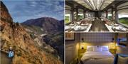 Nya tåget Belmond Andean Explorer tar dig till Andernas högsta slätter. Belmond