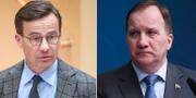 M-ledaren Ulf Kristersson och statsminister Stefan Löfven  TT