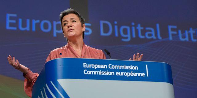 Margrethe Vestager, EU:s kommissionär för konkurrensfrågor Virginia Mayo / TT NYHETSBYRÅN