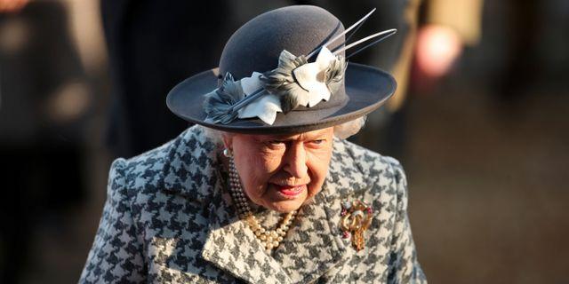Brittiska drottningen. CHRIS RADBURN / TT NYHETSBYRÅN