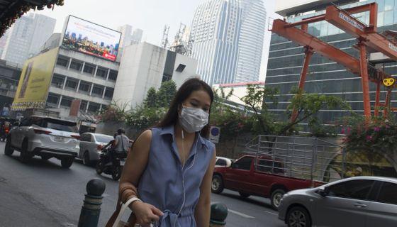 Arkivbild: Smog i Bangkok