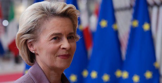 Ursula von der Leyen.  Olivier Hoslet / TT NYHETSBYRÅN