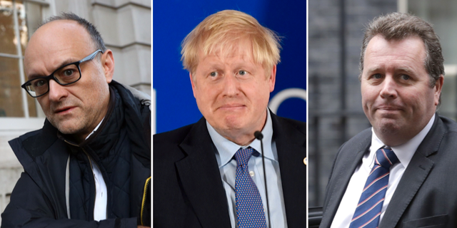 Dominic Raab/ Boris Johnson / Mark Spencer. TT