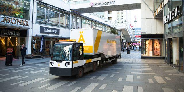 Så här ser en el-trailer ut. Pressbild Älskade stad.