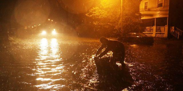 Översvämningar i staden New Bern sedan floden Neuse svämmat över CHIP SOMODEVILLA / GETTY IMAGES NORTH AMERICA