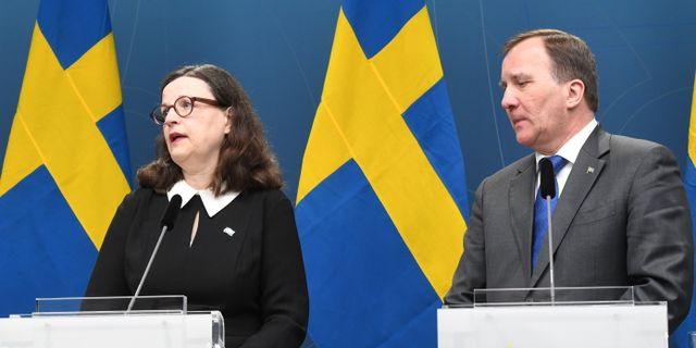 Anna Ekström och Stefan Löfven. Arkivbild. Fredrik Sandberg/TT / TT NYHETSBYRÅN