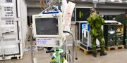På fältsjukhuset i Älvsjö byggs extra intensivvårdsplatser. Jonas Ekströmer/TT / TT NYHETSBYRÅN