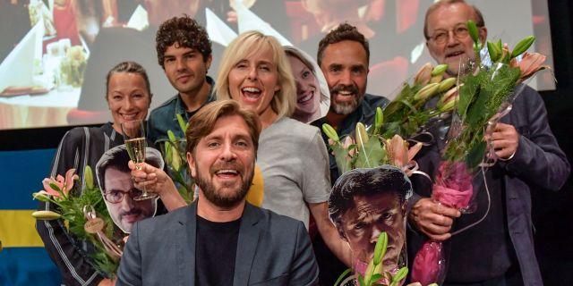 """Filmhuset i Stockholm när hans film """"The Square"""" utses till svensk kandidat till en Oscarsnominering i kategorin bästa icke engelskspråkiga film.  Jessica Gow/TT / TT NYHETSBYRÅN"""