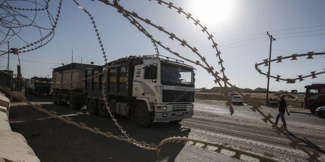 Arkivbild. Gränsposteringen Kerem Shalom. SAID KHATIB / AFP