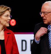 Warren och Sanders. Matt Rourke / TT NYHETSBYRÅN