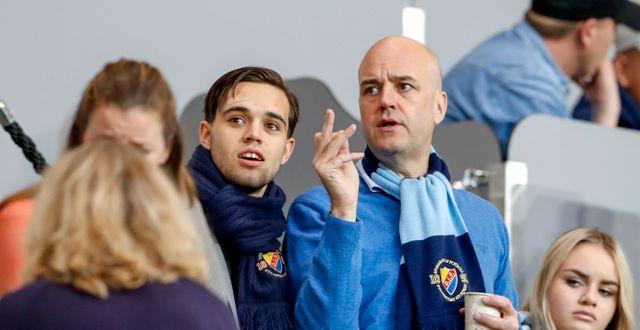 Fredrik Reinfeldt på djurgårdsmatch 2016.  ANDREAS L ERIKSSON / BILDBYRÅN