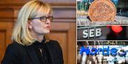 Handelsbankens vd Carina Åkerström, till vänster. TT
