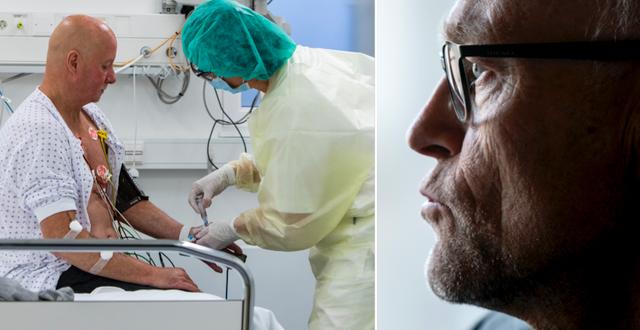 Covidpatient på sjukhuset i Østfold (som gett sitt tillstånd till att fotograferas)/Frode Forland TT