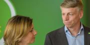 Språkrören Isabella Lövin och Per Bolund under Miljöpartiets kongress. TT.