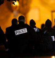 Polisen på plats efter knivmordet. Michel Euler / TT NYHETSBYRÅN