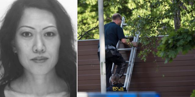 Lena Wesström/Poliser som arbetar på brottsplatsen. Polisen/TT