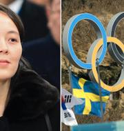 Kim Jong-Uns syster Kim Yo-Jong anländer till Sydkorea. TT