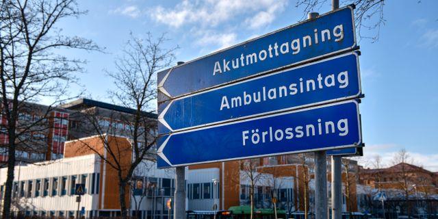 Mälarsjukhuset i Eskilstuna. Sjukhuset är det största av de fyra sjukhusen i Sörmland. Anders Wiklund/TT / TT NYHETSBYRÅN