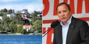 Vy över Danderyd och statsminister Stefan Löfven.  TT