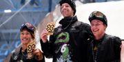 Kanadensaren Max Parrot tog guldet i snowboard i Big Air, svensken Sven Thorgren tog silvret och på tredjeplats kom Yuki Kadono. NTB SCANPIX / TT NYHETSBYRÅN