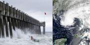 Pensacola, Florida, och stormen Alberto på måndagen. TT