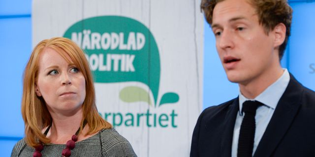 Annie Lööf och Emil Källström. Jessica Gow/TT / TT NYHETSBYRÅN