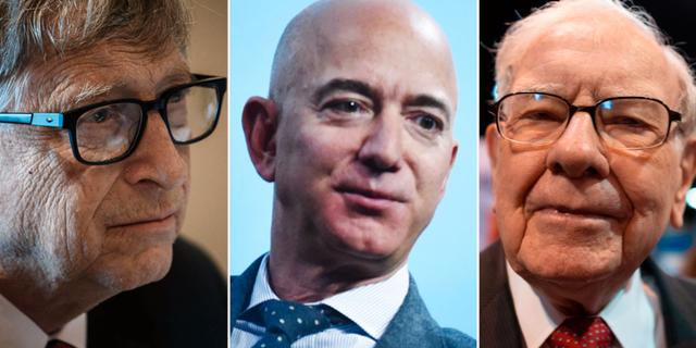 Bill Gates, Jeff Bezos och Warren Buffett.