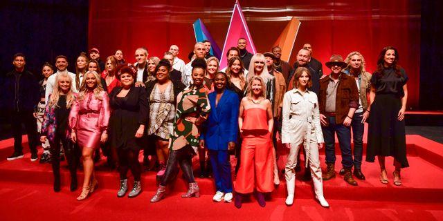 Alla deltagarna i Melodifestivalen 2020 under SVTs presentation. Jonas Ekströmer/TT / TT NYHETSBYRÅN
