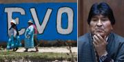 Anhängare till Evo Morales i Bolivia/Morales. TT