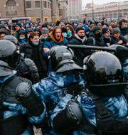 Stora protester i Moskva i söndags.  Alexander Zemlianichenko / TT NYHETSBYRÅN