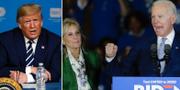 Donald Trump/Jill Biden och Joe Biden. TT