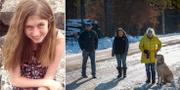 Jamie Closs (t v), personerna som hittade 13-åringen och hjälpte henne slå larm (t h). TT