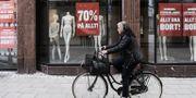 Butiker i Uppsala har utförsäljning på grund av konkurs.  Janerik Henriksson/TT