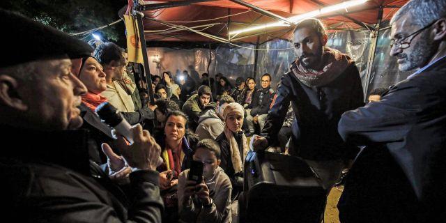 Bild från Al-Nour-torget. IBRAHIM CHALHOUB / AFP