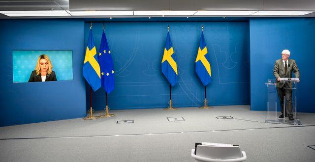 Dagens presskonferens. Henrik Montgomery/TT / TT NYHETSBYRÅN